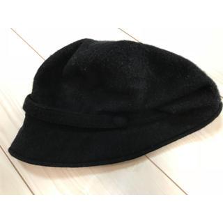 ムジルシリョウヒン(MUJI (無印良品))の無印良品 冬帽子 ウール サイズ56〜59㎝ ブラック(ハット)