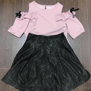 シマムラ(しまむら)の肩空きフリルトップス(Tシャツ(半袖/袖なし))