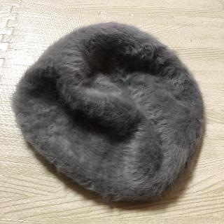 シマムラ(しまむら)のファー ベレー帽 グレー(ハンチング/ベレー帽)