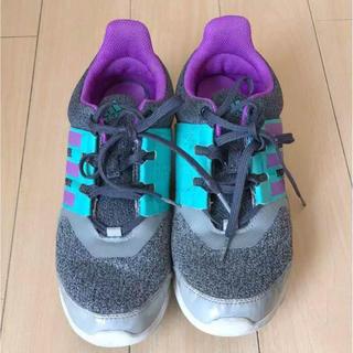 アディダス(adidas)のスニーカー アディダス 25cm 軽量 グレー 美品 adidas(スニーカー)