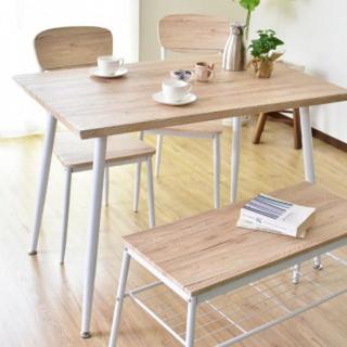 木目調 ダイニングテーブル ベンチ セット ナチュラル