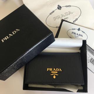 7929c9432533 プラダ(PRADA)の新品 PRADA カードケース 名刺入れ カードケース 黒 ブラック(