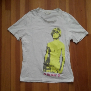 アレキサンダーマックイーン(Alexander McQueen)のALEXANDER MCQUEENトップス カットソー ホワイト イエロー(Tシャツ/カットソー(半袖/袖なし))