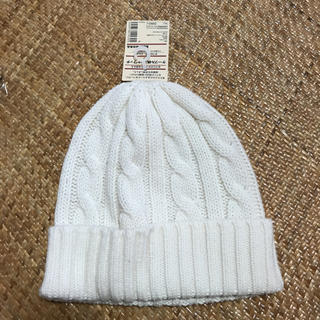 ムジルシリョウヒン(MUJI (無印良品))の無印 おでこのチクチクを抑えた ケーブル柄ニットワッチ(ニット帽/ビーニー)