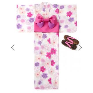 グレイル(GRL)の最終値下げ GRL 3点セット ぼかし八重桜柄浴衣(浴衣)