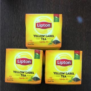 紅茶 リプトン イエロー ラベル ティー ×3箱(茶)