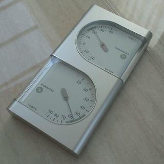 タニタ(TANITA)のTANITA インテリア☆温度計・湿度計☆シルバー シンプル ③(その他)