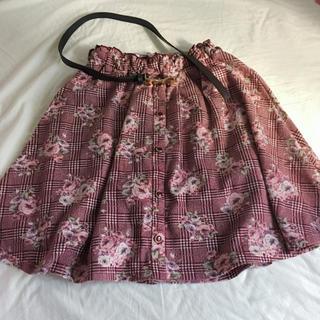 しまむら - (送料無料)リボンベルト付きフレアスカート