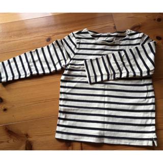 MUJI (無印良品) - 110センチ ボーダー 長袖Tシャツ
