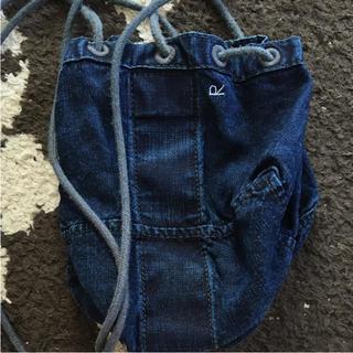 フォーティファイブアール(45R)の45rpm  麻世妙ダッグ巾着バッグ  今季美品(ショルダーバッグ)