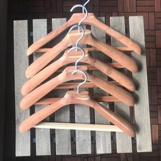 MUJI (無印良品) - 無印良品 木製 紳士用 ハンガー  ×5個 45cm