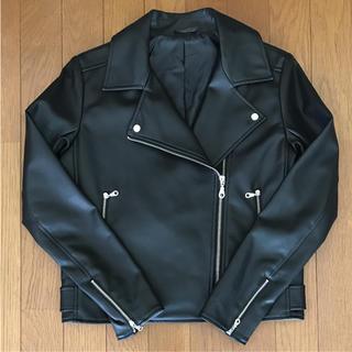 ジーユー(GU)のGU ライダースジャケット ブラック(ライダースジャケット)