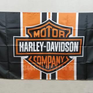 ハーレーダビッドソン(Harley Davidson)のハーレーダビッドソン フラッグ 大判 90×150cm タペストリー 旗(ロールスクリーン)