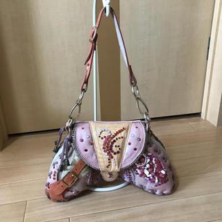 ミュウミュウ(miumiu)のブレイシャーエムデン スワロフスキー ハンドバッグ(ハンドバッグ)