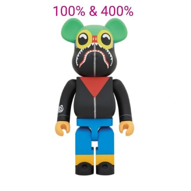 A BATHING APE(アベイシングエイプ)のベアブリック BE@RBRICK APE BAPE 100% 400% エイプ エンタメ/ホビーのおもちゃ/ぬいぐるみ(キャラクターグッズ)の商品写真