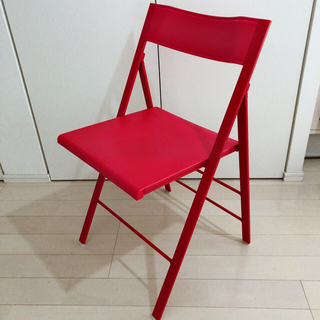 ポケットチェア 折りたたみ 椅子 赤
