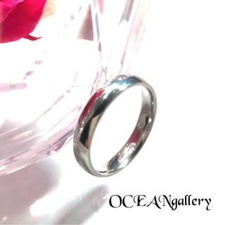 送料無料 10号 シルバー サージカルステンレス シンプル甲丸リング 指輪(リング(指輪))