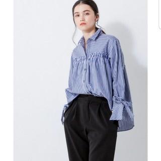 ランバンオンブルー(LANVIN en Bleu)のLANVIN en bleu ストライプシャツ(シャツ/ブラウス(長袖/七分))