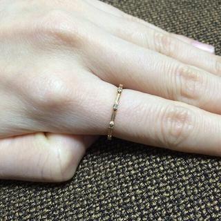 アガット(agete)の値下げagete ブラウンダイヤリング(リング(指輪))