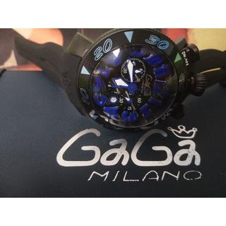 buy popular d9680 ef164 GaGa MILANO - ガガミラノ 腕時計 6054.1 BK ラバーベルトの通販 ...