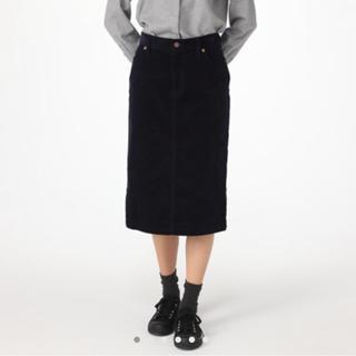 ムジルシリョウヒン(MUJI (無印良品))のオーガニックコットン混ストレッチコーデロイスカート(ひざ丈スカート)