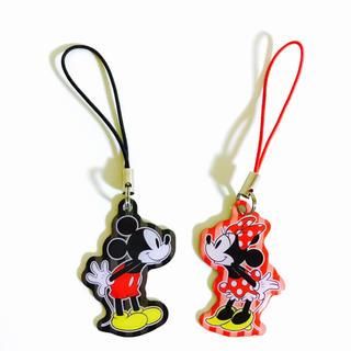 ディズニー(Disney)の未使用✨ディズニー ミッキー ミニー ストラップ ミッキーマウス ミニーマウス(ストラップ/イヤホンジャック)