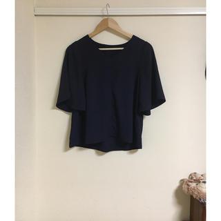 ジーユー(GU)のGU フレアスリーブVネックブラウス✳︎(シャツ/ブラウス(半袖/袖なし))
