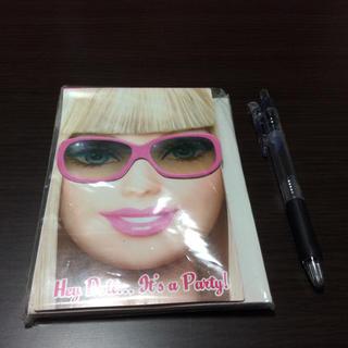 バービー(Barbie)の未使用品!バービー パーティーカード(ノート/メモ帳/ふせん)