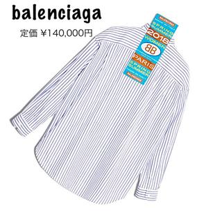 バレンシアガ(Balenciaga)のバレンシアガ多数出品中❗️岩ちゃん着用 2018SSマリンブルー タグ シャツ (シャツ/ブラウス(長袖/七分))