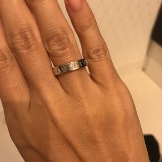 ブルガリ(BVLGARI)のBVLGARI ダブルロゴリング ダイヤ1P(リング(指輪))