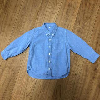 ムジルシリョウヒン(MUJI (無印良品))の無印良品 ブルーシャツ サイズ100(ブラウス)