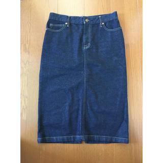 ムジルシリョウヒン(MUJI (無印良品))の美品 無印 デニムスカート(ひざ丈スカート)