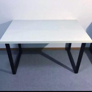 Francfranc - センターテーブル リビングテーブル 白黒 鉄脚 おしゃれ