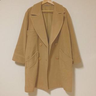 ジャンニバレンチノ(GIANNI VALENTINO)の【valentino】キャメル ダブル コート vintage古着 ヴィンテージ(ロングコート)