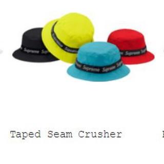 シュプリーム(Supreme)のsupreme 17aw Taped Seam Crusher Hat 黒(ハット)