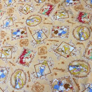 ディズニー(Disney)のディズニープリンセス♡敷きパッド 布団カバー シーツ  シングルサイズ オレンジ(シーツ/カバー)