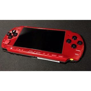 プレイステーションポータブル(PlayStation Portable)のPSP3000 レッドブラック 美品動作品(携帯用ゲーム本体)