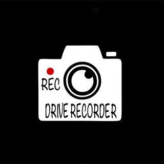 ドライブレコーダー ドラレコ カーステッカー  ステッカー シール 車(セキュリティ)