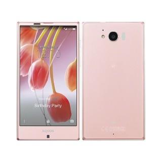 エーユー(au)の(極美品A)au AQUOS SERIE SHV32 Pink(スマートフォン本体)