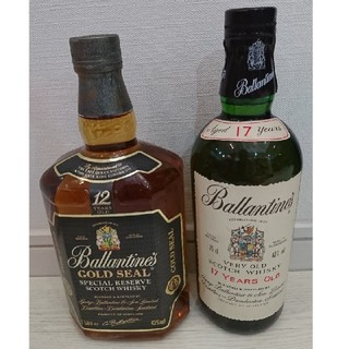 バランタインカシミヤ(BALLANTYNE CASHMERE)のバランタイン 12年 17年 2本 セット 古酒(ウイスキー)