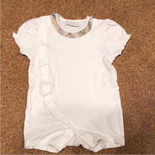 バーバリー(BURBERRY)の美品 バーバリー 半袖ロンパース インナー Tシャツ(ロンパース)