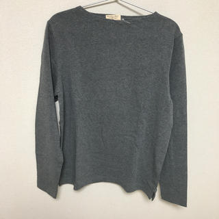 MUJI (無印良品) - (新品)無印良品 ボートネック長袖Tシャツ sizeS