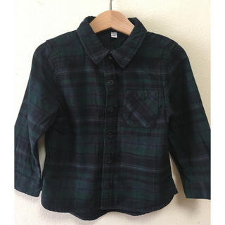 ムジルシリョウヒン(MUJI (無印良品))の無印 チェックシャツ 100センチ(ブラウス)