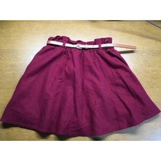 シマムラ(しまむら)の秋冬物 赤いスカート Mサイズ お値下げ可能(ミニスカート)