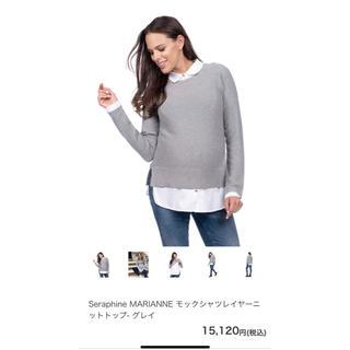 セラファン(SERAPHIN)のセラフィン シャツ襟付きニット XS(ニット/セーター)