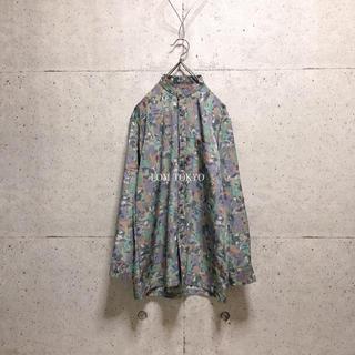 [used]dusty color art design shirt.(シャツ)
