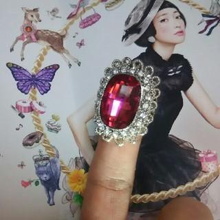 コスチュームリング 赤い大きな指輪♥(リング(指輪))