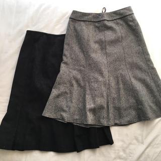 ジェイプレスレディス(J.PRESS LADIES)のjpress etc. ウールのスカート2枚セット(ひざ丈スカート)