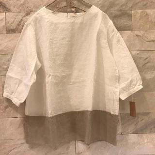 スティールエコンフォール(style+confort)のスティールエコンフォールstyle+confort裾切り替えプルオーバーブラウス(シャツ/ブラウス(長袖/七分))