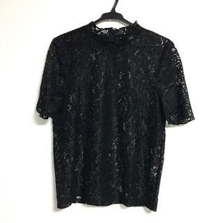 ジーユー(GU)のGU ジーユー レースフリルネックT(Tシャツ(半袖/袖なし))